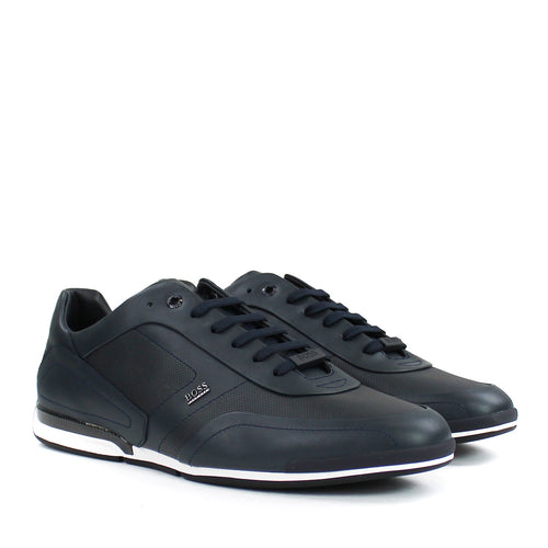 Hugo Boss - Saturn_Lowp_ltpf1 Trainers in Navy - Nigel Clare
