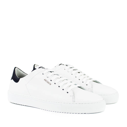 Axel Arigato - Clean 90 Contrast Heel Trainers in White/Navy - Nigel Clare