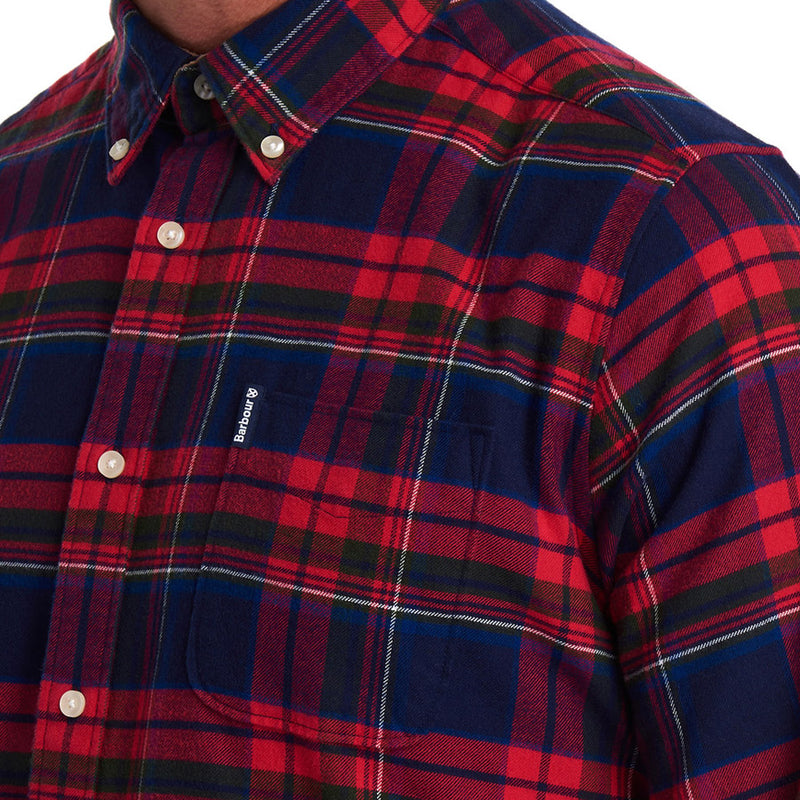 Barbour - Highland Check 16 Tailored Fit Shirt in Rich Red - Nigel Clare