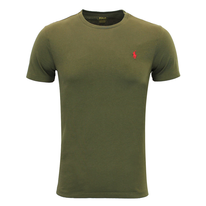 Polo Ralph Lauren - Custom Slim Fit T-Shirt in Khaki Green - Nigel Clare