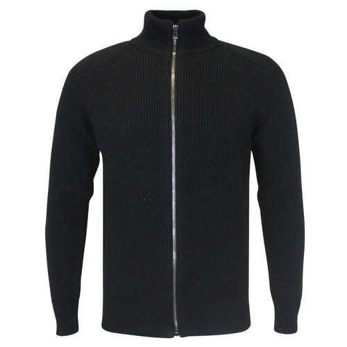 Belstaff - Parkgate Zip Through Cardigan in Black - Nigel Clare