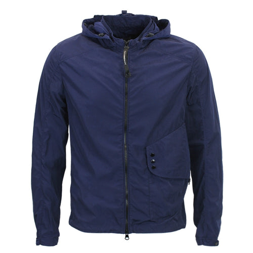 CP Company - Chrome Goggle Hooded Overshirt in Navy - Nigel Clare