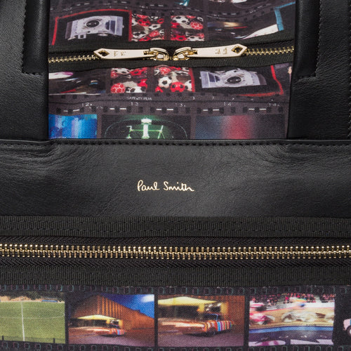 Paul Smith - 'Mini Film' Print Canvas Weekend Bag - Nigel Clare
