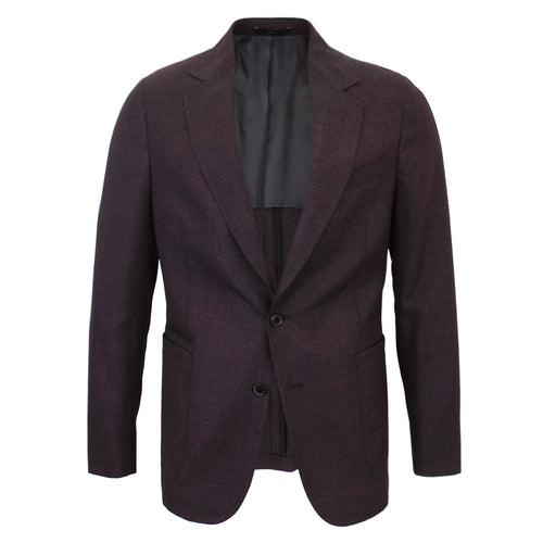 Paul Smith - Soho Fit Textured Wool Blazer in Burgundy - Nigel Clare