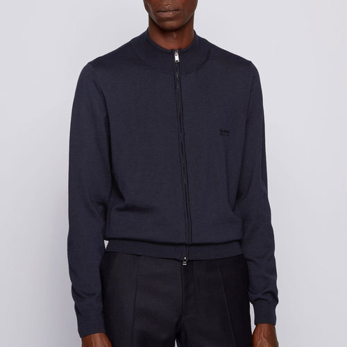 Hugo Boss - Balonso-L Full Zip Cardigan in Navy