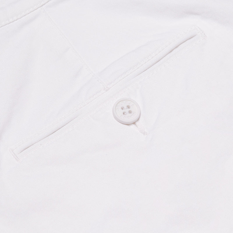 Orlebar Brown - Bulldog Cotton Twill Shorts in White - Nigel Clare