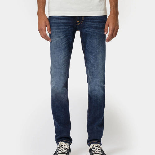 Nudie Jeans - Lean Dean Dark Deep Worn Jeans