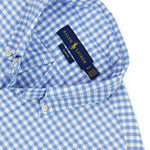 Polo Ralph Lauren - Slim Fit Gingham Oxford Shirt in Blue/White - Nigel Clare
