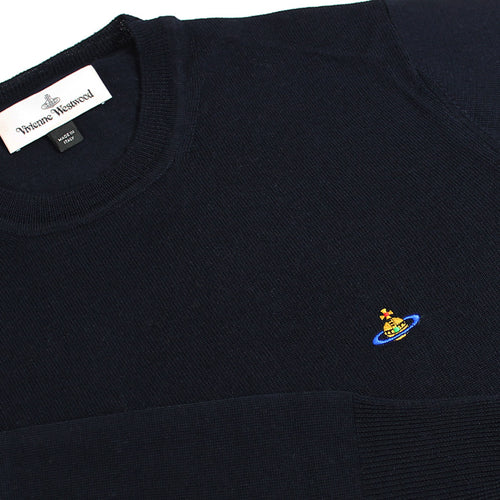 Vivienne Westwood - Crew Neck Jumper in Navy - Nigel Clare