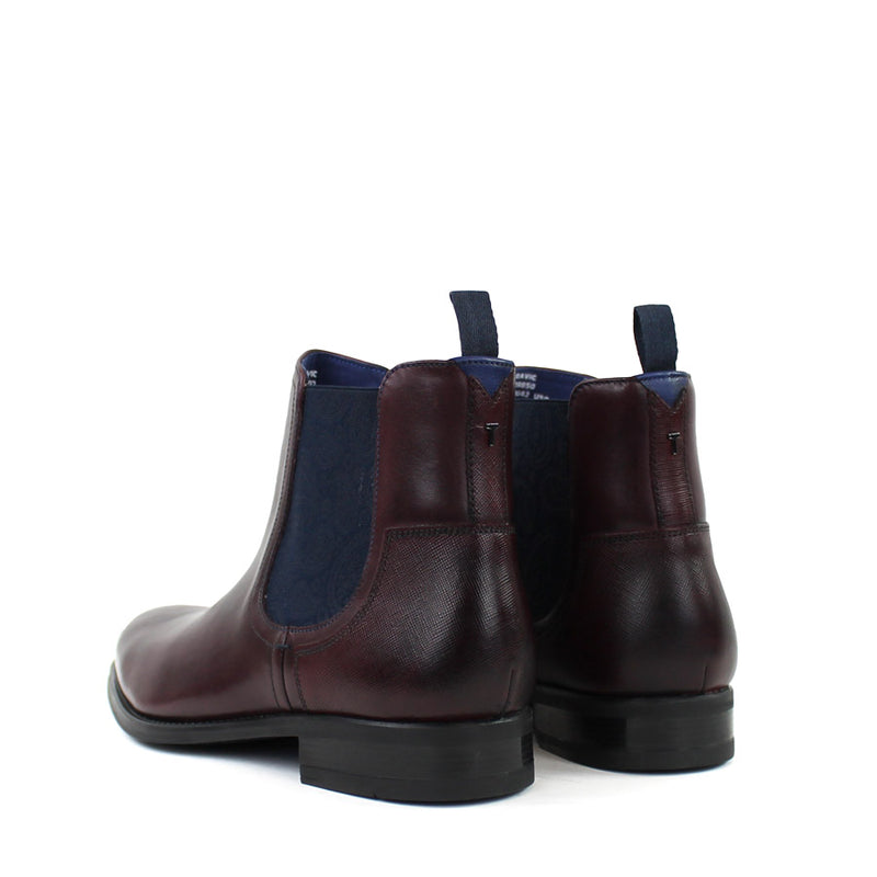 Ted Baker - TRAVIC Leather Chelsea Boots in Dark Red - Nigel Clare