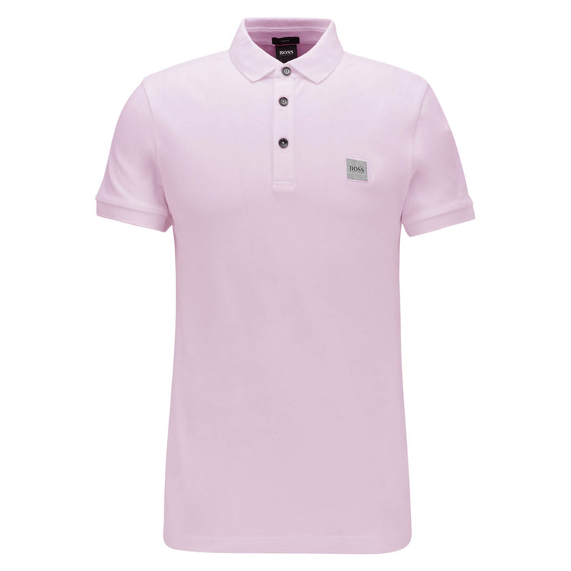 BOSS Orange - Passenger Logo Patch Polo Shirt in Pink - Nigel Clare