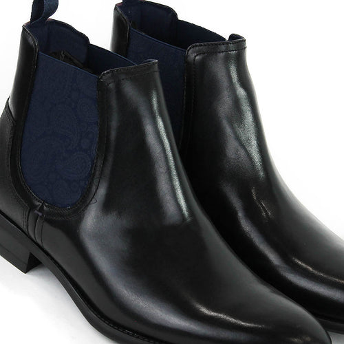 Ted Baker - Tradd Leather Chelsea Boots in Black