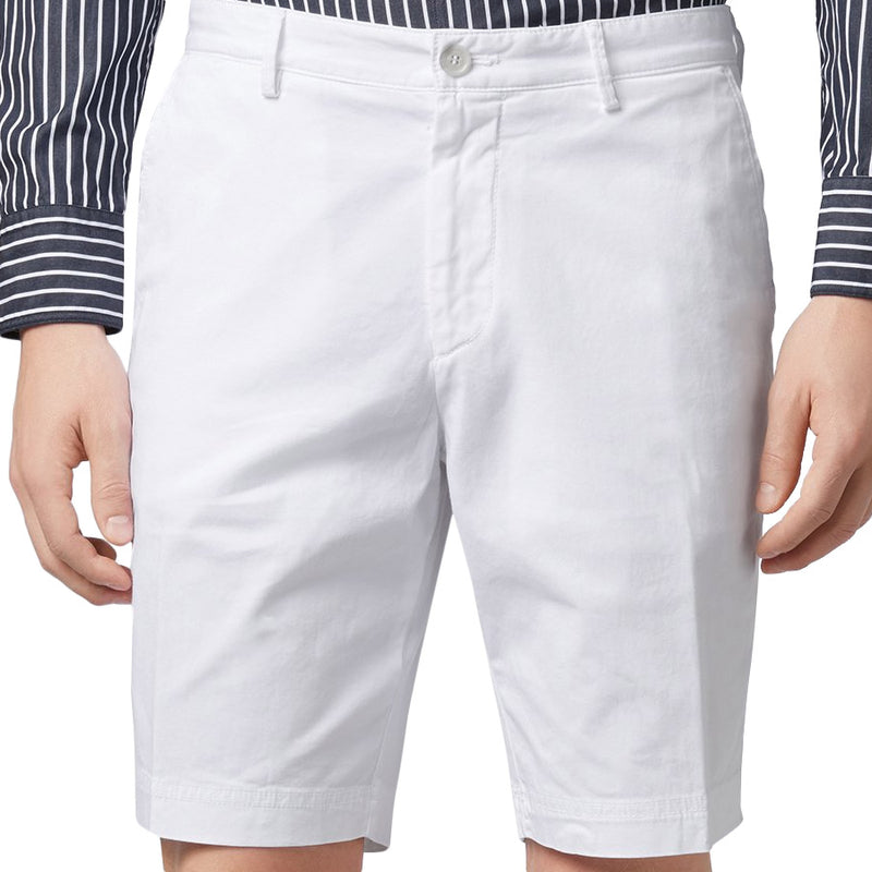 BOSS Black - Slice Slim Fit Twill Shorts in White - Nigel Clare