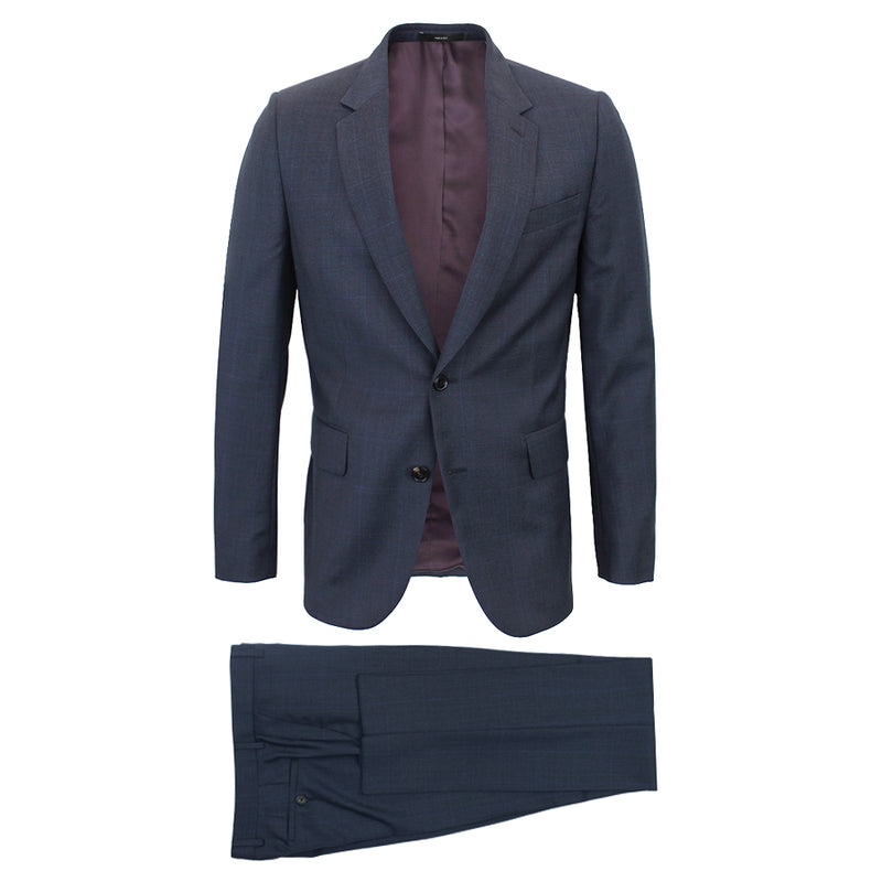 Paul Smith - Soho Fit Prince of Wales Check Suit in Navy - Nigel Clare