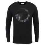 Versace Collection - Printed Logo Long Sleeve T-Shirt in Black - Nigel Clare