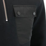 Barbour International - Ratio Half Zip Pullover in Black - Nigel Clare