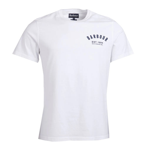 Barbour - Preppy T-Shirt in White - Nigel Clare