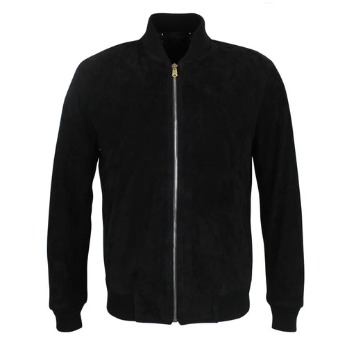 Paul Smith - Suede Leather Bomber Jacket in Black - Nigel Clare