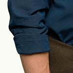 Orlebar Brown - Giles GD Tailored Fit Shirt in Blue Slate - Nigel Clare