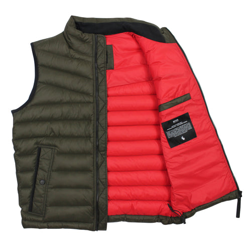 BOSS Orange - Olmeev1 Featherweight Gilet in Khaki - Nigel Clare