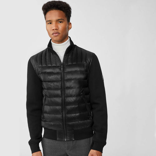 Mackage - Collin Quilted Front Bomber Jacket in Black