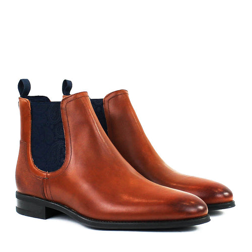 Ted Baker - Tradd Leather Chelsea Boots in Tan - Nigel Clare