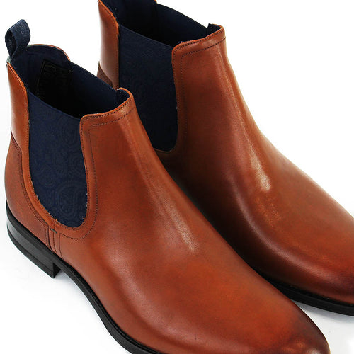 Ted Baker - Tradd Leather Chelsea Boots in Tan