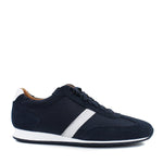 Hugo Boss - Orland_Lowp_sdny2 Suede Mesh Trainers in Dark Blue - Nigel Clare