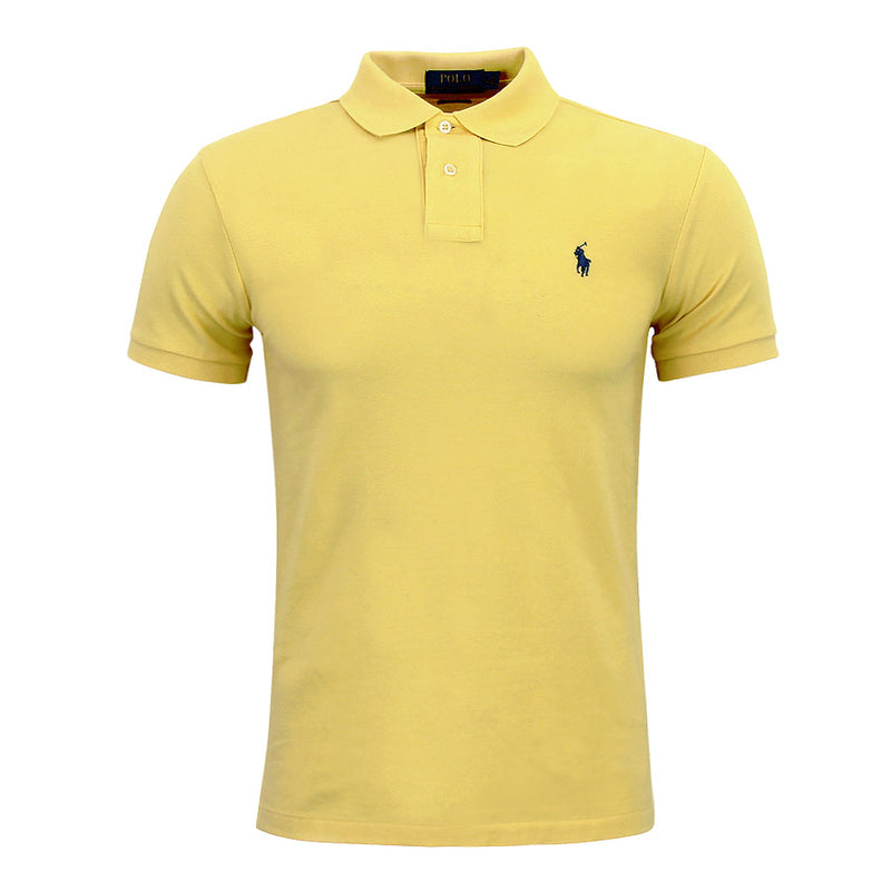 Polo Ralph Lauren - Slim Fit Mesh Polo Shirt in Yellow - Nigel Clare