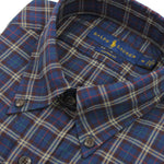 Polo Ralph Lauren - Custom Fit Multi Check Shirt in Navy/Burg - Nigel Clare