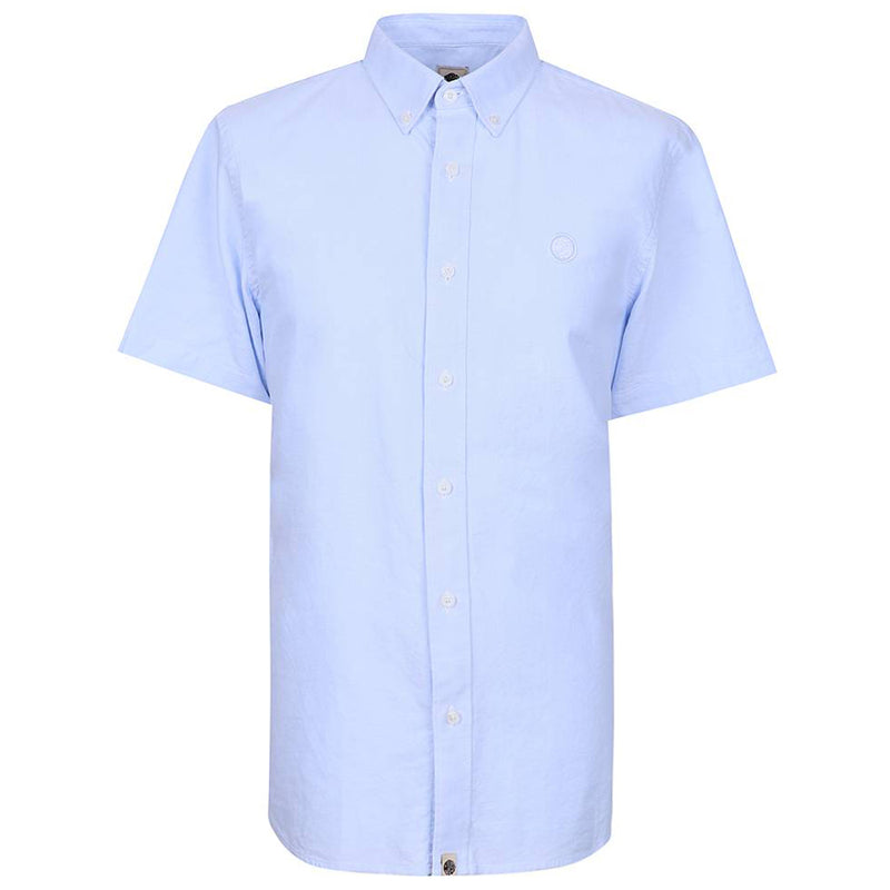 Pretty Green - Classic Fit SS Oxford Shirt in Pale Blue - Nigel Clare
