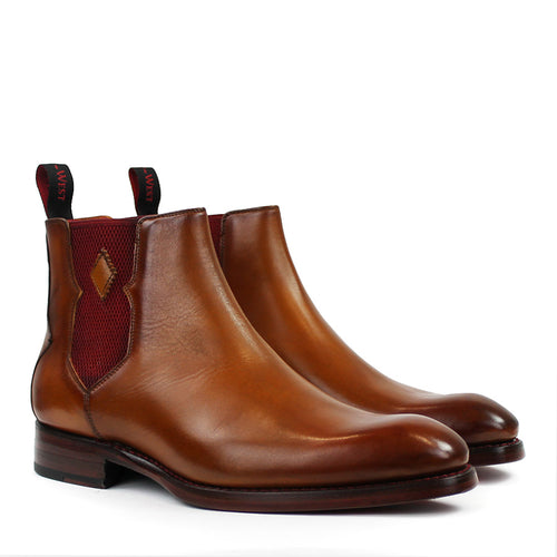 Jeffery West - Slammed S Floyd-B Chelsea Boots in Caramel - Nigel Clare