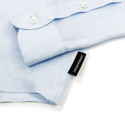 Emporio Armani - Linen Shirt in Sky Blue