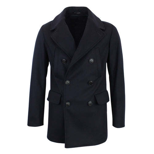 Emporio Armani - Double Breasted Wool/Cashmere Peacoat in Navy - Nigel Clare