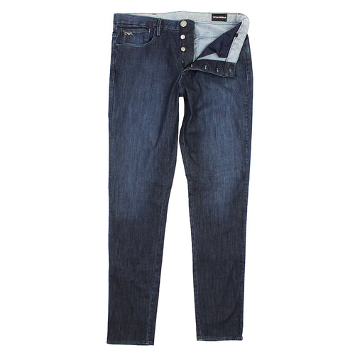 Emporio Armani - J11 1D85Z Skinny Fit Jeans in Blue Wash - Nigel Clare