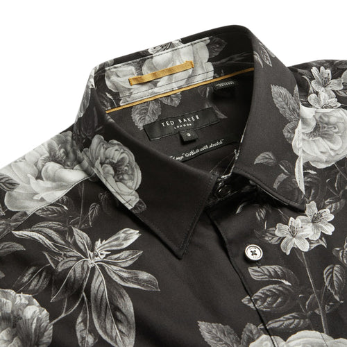 Ted Baker - ECLAIR Floral Print Shirt in Black - Nigel Clare
