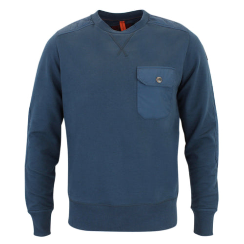 Parajumpers - Grady Pocket Sweatshirt in Interstellar Blue - Nigel Clare