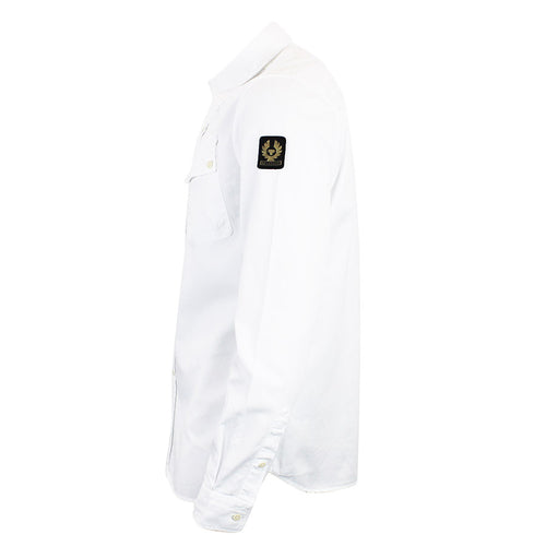 Belstaff - Pitch Twill Cotton Shirt in White - Nigel Clare