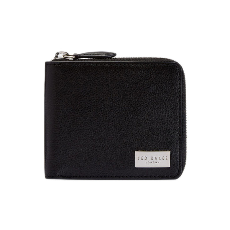 Ted Baker - Baits Leather Zip Up Wallet in Black - Nigel Clare
