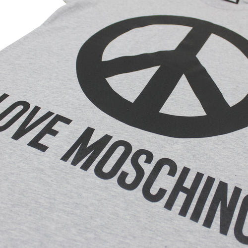 Love Moschino - Peace Logo T-Shirt in Grey - Nigel Clare