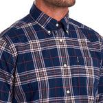 Barbour - Highland Check Shirt in Navy & Brown - Nigel Clare
