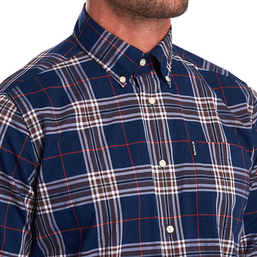 Barbour - Highland Check Shirt in Navy & Brown