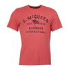 Barbour International - SMQ Boon T-Shirt in Washed Red - Nigel Clare
