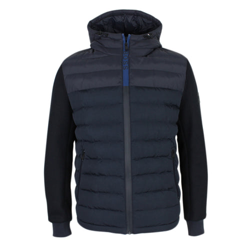 Hugo Boss - Celran Hybrid Hooded Jacket in Navy - Nigel Clare