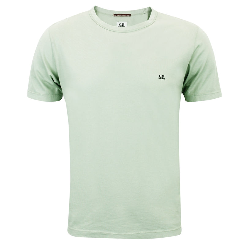 CP Company - Mako Cotton Short Sleeve T-Shirt In Pale Green - Nigel Clare