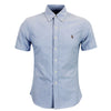 Polo Ralph Lauren - Slim Fit Short Sleeved Oxford Shirt in Blue - Nigel Clare