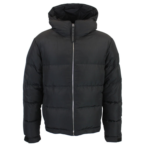 Versace Collection - Down Filled Hooded Puffa Jacket in Black - Nigel Clare