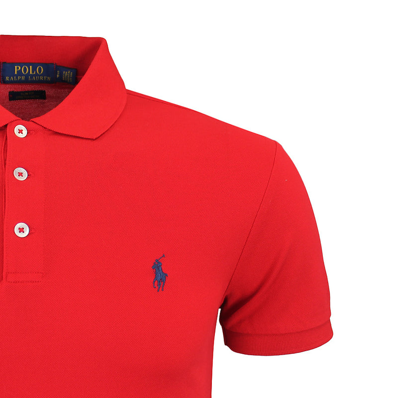 Polo Ralph Lauren - Slim Fit Stretch Mesh Polo Shirt in Red - Nigel Clare