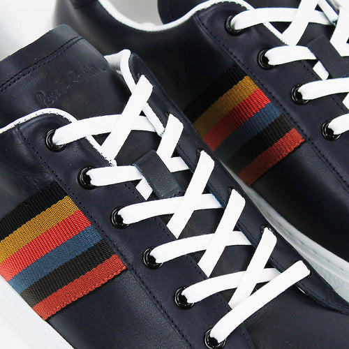 Paul Smith - Hansen Artist Stripe Trainers in Navy