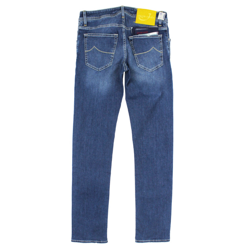 Jacob Cohen - J622 Blue Wash Yellow Badge Jeans - Nigel Clare